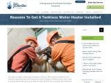 Reasons To Get A Tankless Water Heater Installed
