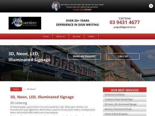 Illuminated Signs Melbourne – J.C. Signwriters