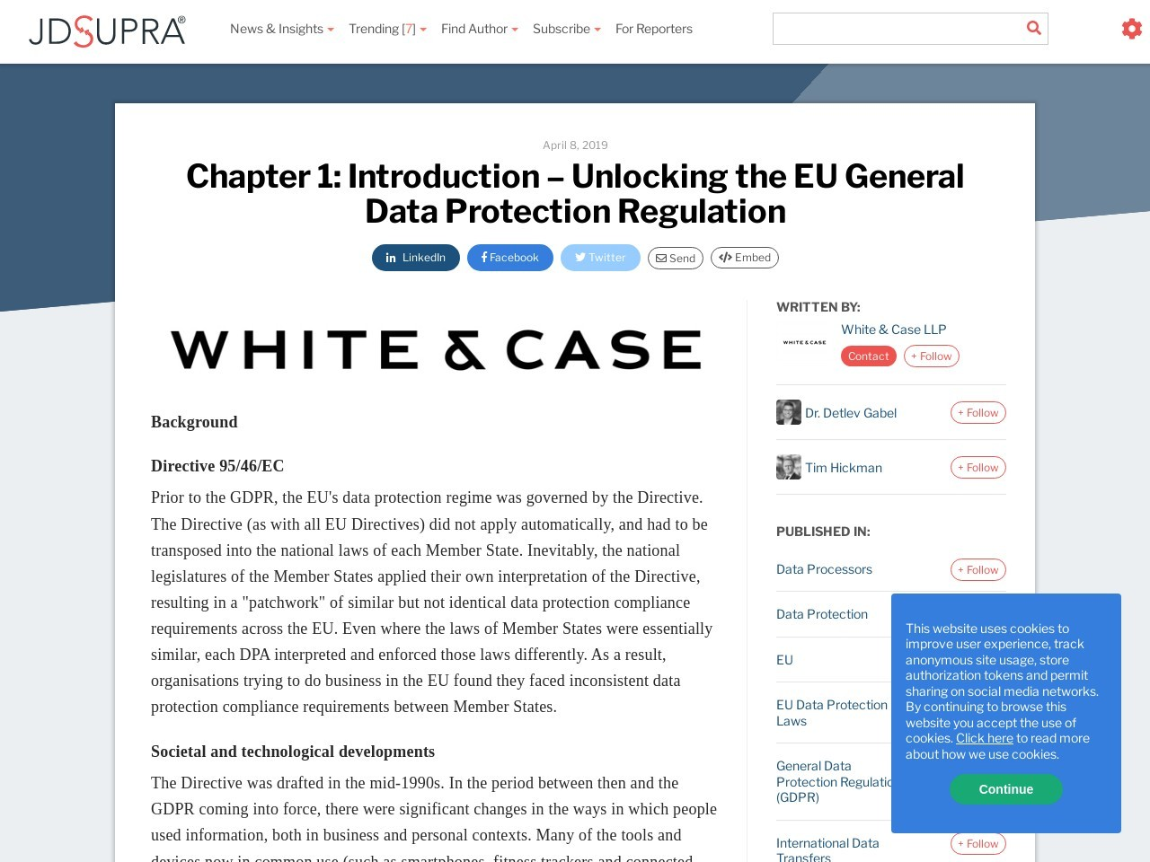 Chapter 1: Introduction – Unlocking the EU General Data Protection…