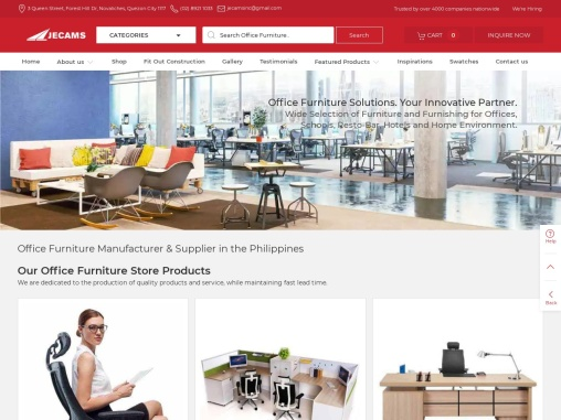 Office Furniture Philippines | Jecams Inc.