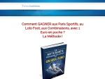 FOOT COMMENT GAGNER A VIE AVEC 1 SEUL EURO