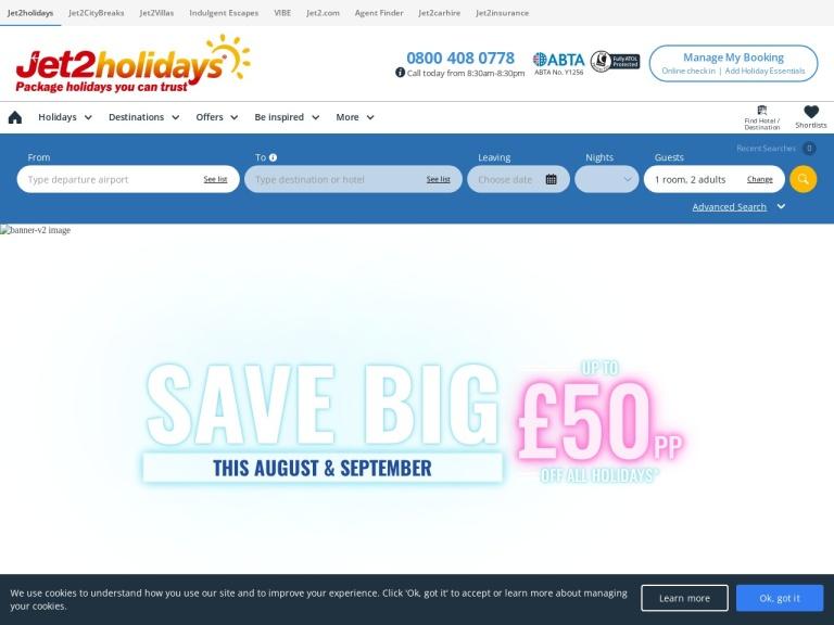 Jet2Holidays screenshot
