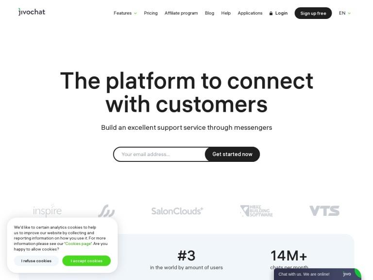 JivoChat Coupons and Discounts February 2021 screenshot