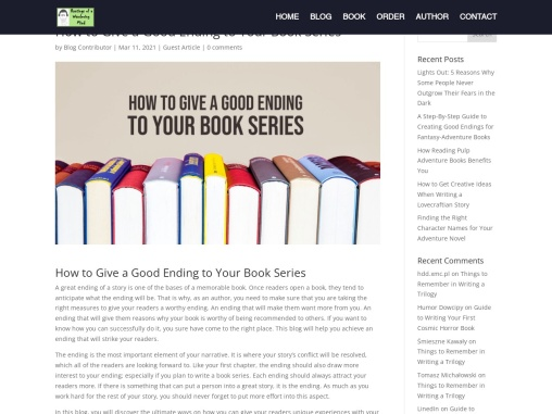 How to Give a Good Ending to Your Book Series