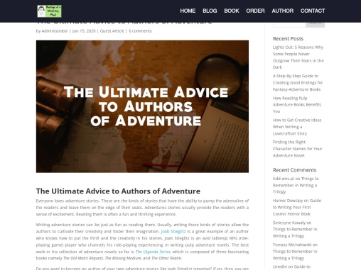 The Ultimate Advice to Authors of Adventure