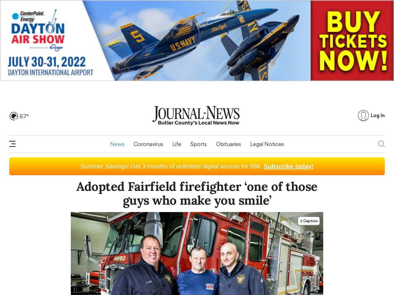 Adopted Fairfield firefighter 'one of those guys who make you sm