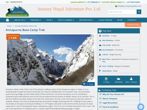 Annapurna Base Camp Trek in Nepal