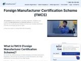 Foreign Manufacturer Certification Scheme   JR Compliance   FMCS consultants