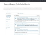 {Dataverse} Database of Indian Political Speeches