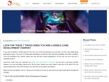 7 Tips to Hire a Right Mobile Game Development Company – Blog