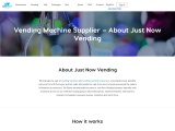 Vending Machine Supplier   Vending Machine Business – About Us   Just Now Vending