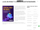 LOCAL SEO IN 2021 – A COMPLETE GUIDE FOR BEGINNERS