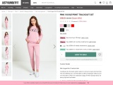 Pink Tracksuit   Pink Vogue Print Tracksuit Set  Justyouroutfit