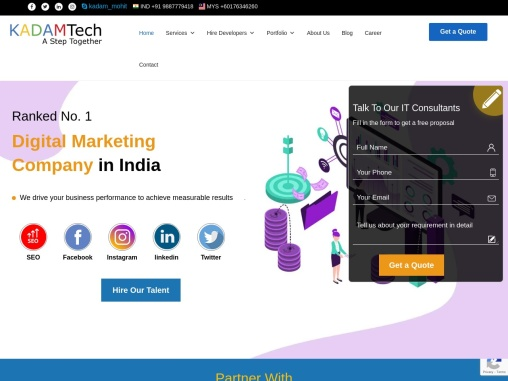 Vue Js development company in india | Kadam Tech