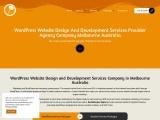 WordPress Website Design And Development Services Provider Agency Company Australia