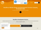 wordPress website design and development services provider agency company india