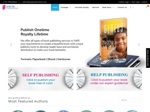 Get Your Book Published with the best book Publishers in India.
