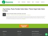 Kazema – Plastic Single Cabin Toilets In Dubai