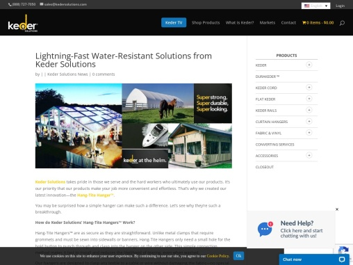 Lightning-Fast Water-Resistant Solutions from Keder Solutions