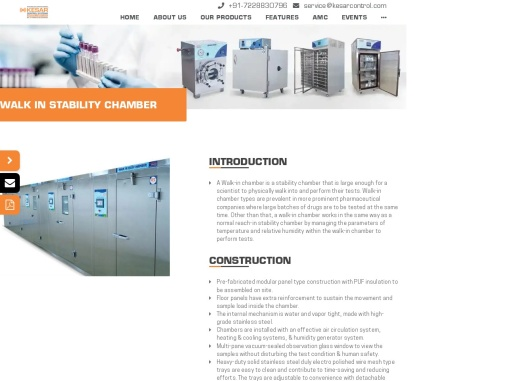 Stability Chamber is designed as per ICH Guidelines for precise monitoring of temperature.