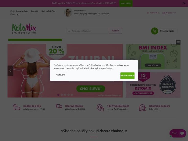 ketomix.cz screenshot