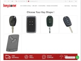 Car Key covers for Renault Benz Cars, Silicone, Carbon Faber, Metal key covers