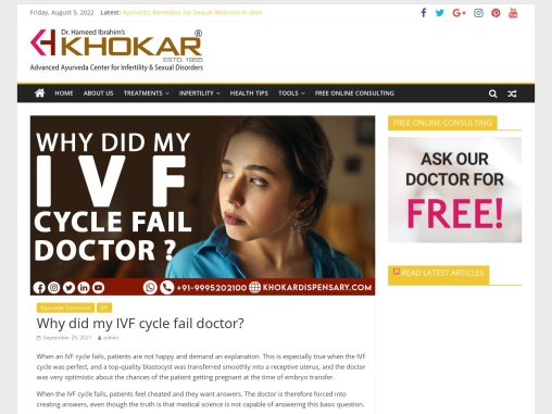 Why did my IVF cycle fail doctor?