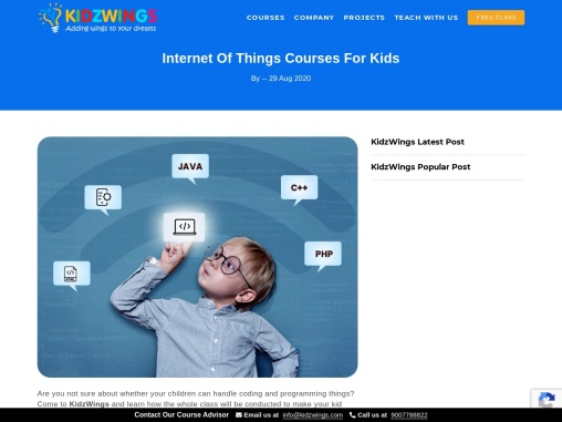 Internet Of Things Courses For Kids