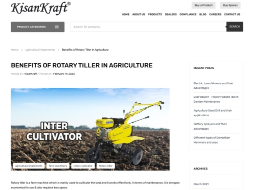 The Best Rotary Tiller Machine in Bangalore