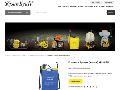 Manual sprayers for sale in India
