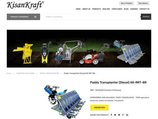 paddy transplanter manufacturer and supplier in Bangalore