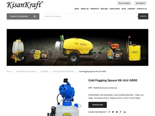 cold fogger manufacturer in India