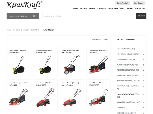 Lawn mower manufacturer and supplier in India