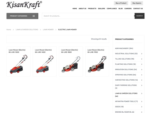 Electric lawn mower manufacturer and supplier in India