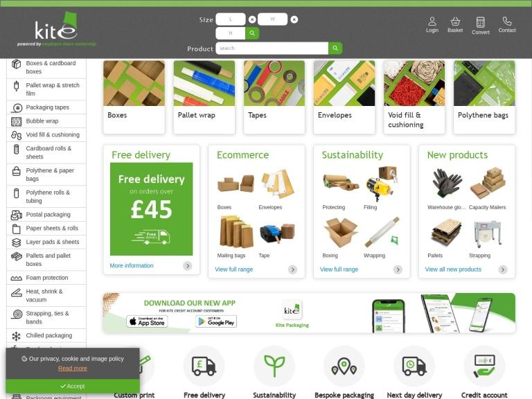 Kite Packaging Discount Codes screenshot