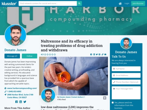 Naltrexone and its efficacy in treating problems of drug addiction and withdrawa