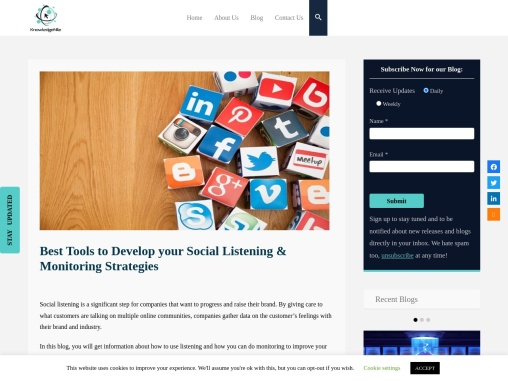 Best Tools to Develop your Social Listening & Monitoring Strategies