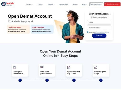 Get your Demat Account Now – Kotak Securities