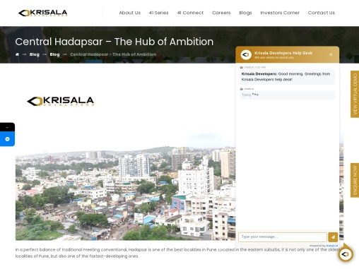 Central Hadapsar – The Hub of Ambition   Krisala Developers