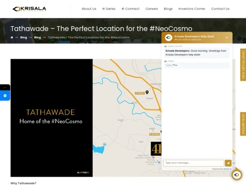 Tathawade – The Perfect Location for the #NeoCosmo