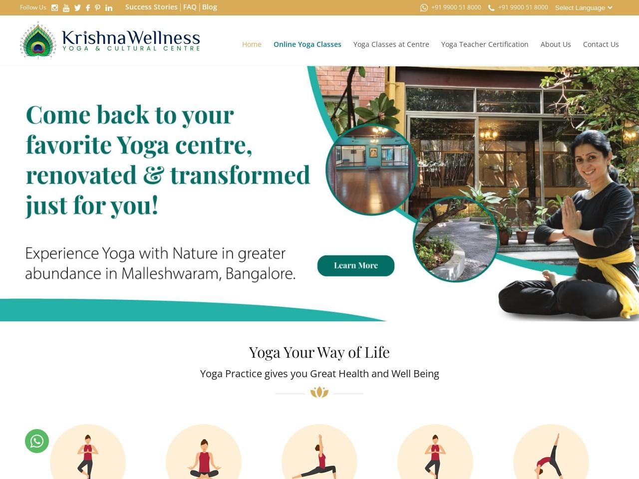 Sri Krishna Wellness centre, Yoga centre