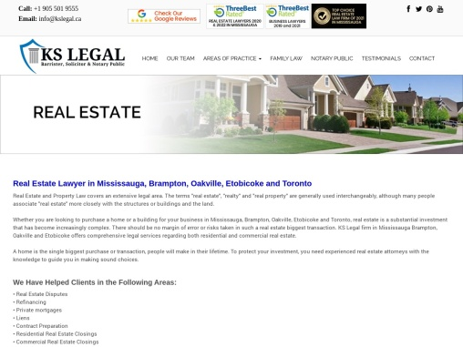 Real Estate Lawyer in Mississauga
