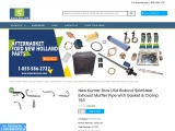 New Kumar Bros USA Bobcat SkidSteer Exhaust Muffler Pipe with Gasket & Clamp 763