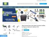 New Kumar Bros USA Spark Arrestor Muffler, Ex Pipe & Clamp for Bobcat 753