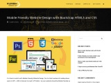 Mobile Friendly Website Design with Bootstrap HTML5 and CSS