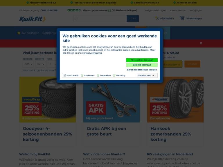 Kwik Fit.nl aanbiedingen