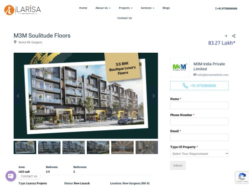 M3M Boutique Floors at Sector 89, New Gurugram