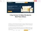 5 Key Factors To Make WordPress Well Than Others