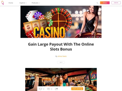 Gain Large Payout With The Online Slots Bonus