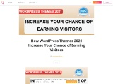 How WordPress Themes 2021 Increase Your Chance of Earning Visitors